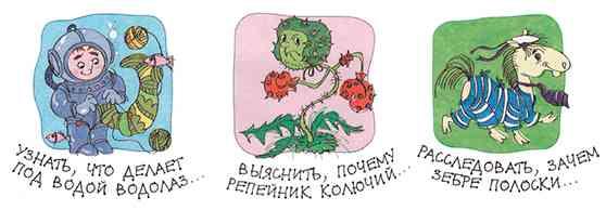 Примеры целей исследования (рисунок из брошюры Савенкова)