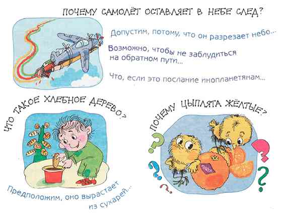 Примеры гипотез исследования (рисунок из брошюры Савенкова)