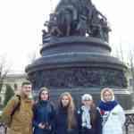 Члены делегации Тамбовской области у памятника Тысячелетия Руси