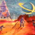 рисунок Тимофея 'Освоение Марса'